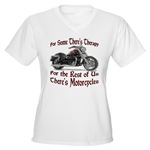 Motorcycle Therapy Women's V-Neck T-Shirt