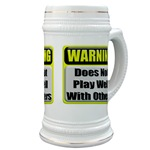 Does not play well with others Beer Stein
