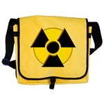 3D Radioactive Symbol Messenger Bag