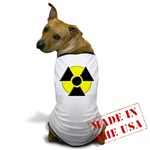 3D Radioactive Symbol Dog T-Shirt