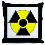 3D Radioactive Symbol Throw Pillow