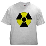 3D Radioactive Symbol Ash Grey T-Shirt