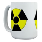 Large 3D Radioactive Symbol Coffee Mug