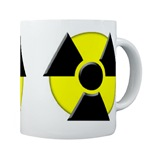 3D Radioactive Symbol Coffee Cup