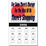 Shopping Therapy Calendar Print