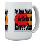 Shopping Therapy Large Coffee Mug