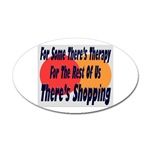 Shopping Therapy Oval Sticker