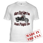 Bikers Have More Fun Fitted T-Shirt