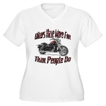 Bikers Have More Fun Women's Plus Size V-Neck T-Sh