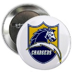 Chargers Bolt Shield Button