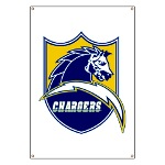 Chargers Bolt Shield Banner