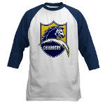 Chargers Bolt Shield Baseball Jersey