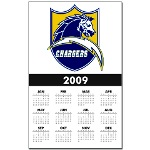 Chargers Bolt Shield Calendar Print