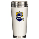 Chargers Bolt Shield Ceramic Travel Mug