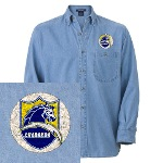 Chargers Bolt Shield Denim Shirt