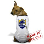 Chargers Bolt Shield Dog T-Shirt