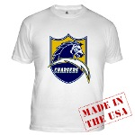 Chargers Bolt Shield Fitted T-Shirt