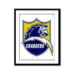 Chargers Bolt Shield Framed Panel Print