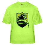 Chargers Bolt Shield Green T-Shirt