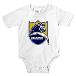 Chargers Bolt Shield Infant Bodysuit