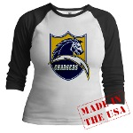 Chargers Bolt Shield Jr. Raglan
