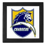 Chargers Bolt Shield Keepsake Box