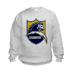 Chargers Bolt Shield Kids Sweatshirt