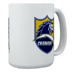 Chargers Bolt Shield Large Mug