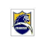 Chargers Bolt Shield Large Poster
