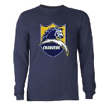 Chargers Bolt Shield Long Sleeve Dark T-Shirt