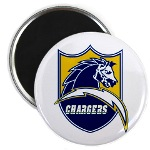 Chargers Bolt Shield Magnet