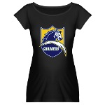 Chargers Bolt Shield Maternity Dark T-Shirt