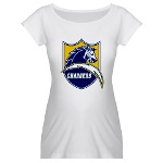 Chargers Bolt Shield Maternity T-Shirt