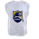 Chargers Bolt Shield Men's Sleeveless Tee