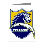 Chargers Bolt Shield Note Cards (Pk of 10)