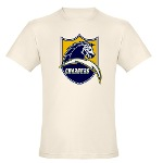 Chargers Bolt Shield Organic Cotton Tee