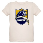 Chargers Bolt Shield Organic Kids T-Shirt