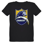 Chargers Bolt Shield Organic Kids T-Shirt (dark)