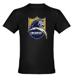 Chargers Bolt Shield Organic Men's Fitted T-Shirt