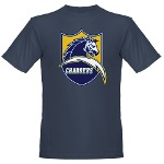 Chargers Bolt Shield Organic Men's T-Shirt (dark)