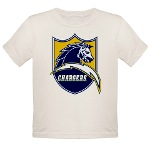 Chargers Bolt Shield Organic Toddler T-Shirt