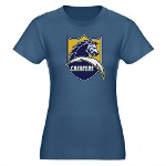 Chargers Bolt Shield Organic Women's Fitted T-Shir