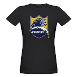 Chargers Bolt Shield Organic Women's T-Shirt (dark