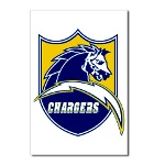 Chargers Bolt Shield Postcards (Package of 8)