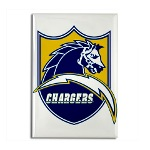 Chargers Bolt Shield Rectangle Magnet