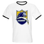 Chargers Bolt Shield Ringer T
