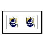 Chargers Bolt Shield Small Framed Print