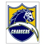 Chargers Bolt Shield Small Poster