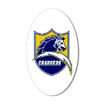Chargers Bolt Shield Sticker (Oval)
