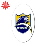 Chargers Bolt Shield Sticker (Oval 50 pk)